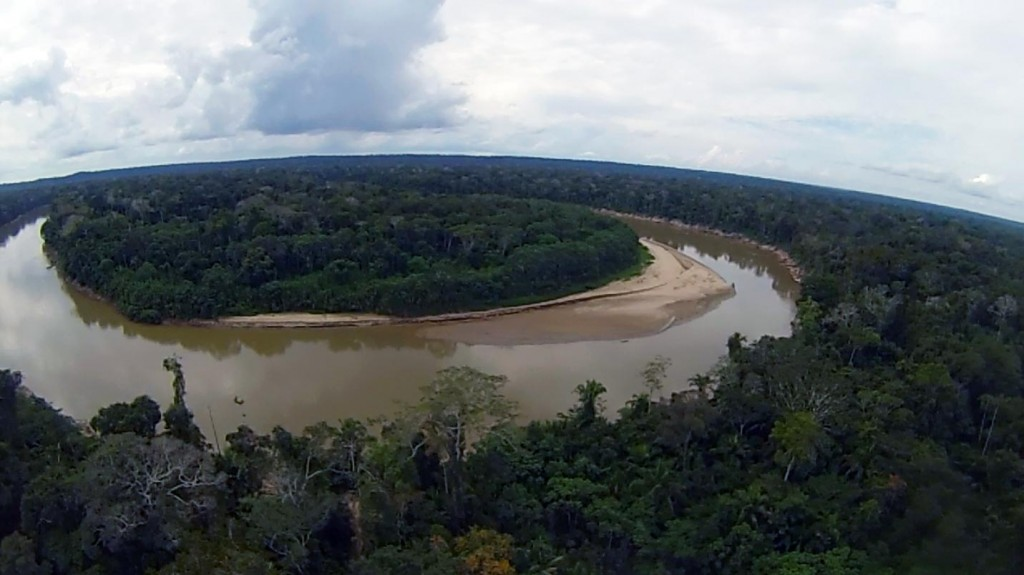 Las Piedras River Peru aerial photo from Drone