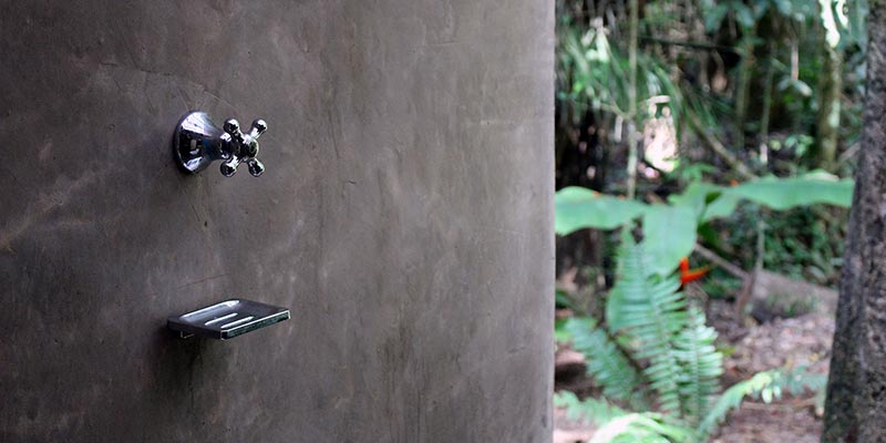 eco lodge amazon rainforest peru shower outdoor