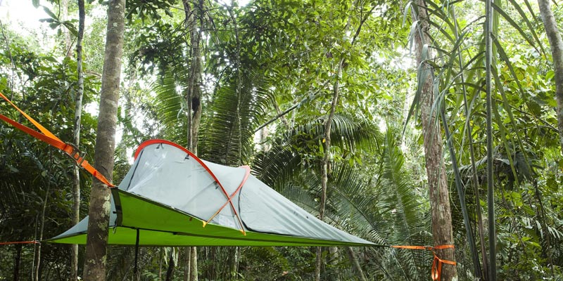 Camping in the Amazon